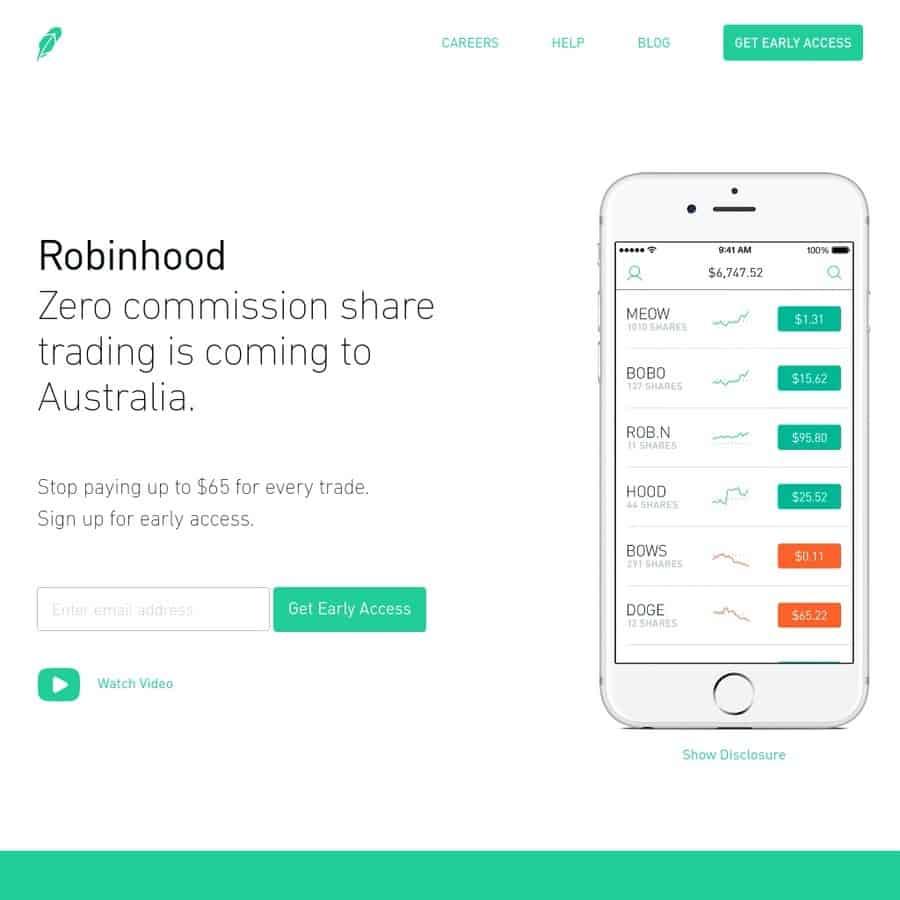 robinhood australia